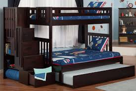Viv Rae Edwardo Twin Over Full Bunk Bed With Staircase With - Full over full bunk bed with trundle