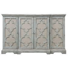 uttermost 24520 sophie 4 door grey cabinet