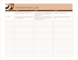 6 party menu template outline templates