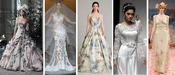 coloured wedding dresses uk wedding online brides 15 stunning floral wedding dresses