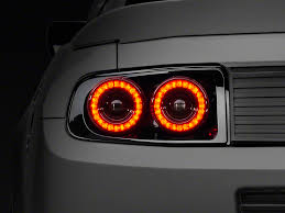 mustang led tail lights raxiom mustang dual halo led tail lights 397460 13 14 all free