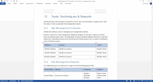 risk management plan template 24 pg ms word u0026 free excel templates
