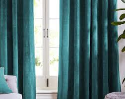 Curtains With Turquoise Turquoise Curtains Etsy
