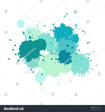 watercolor splashes paint vector splat stains stock vector