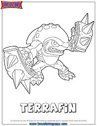 skylanders giants earth series2 terrafin coloring page h u0026 m