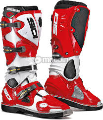 red dirt bike boots sidi crossfire boots motoin de