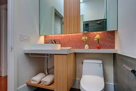 Bathroom Toilet Cabinets Bathroom Sink And Toilet Cabinets With Modern Red Accents