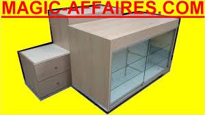 banque d accueil bureau agencement banque d accueil comptoir avec vitrine 3 meubles bas