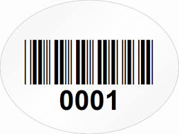 custom oval barcode labels