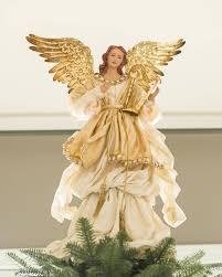 christmas tree angel gold angel tree topper balsam hill