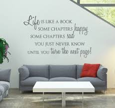 online get cheap books cabinets aliexpress com alibaba group dsu life is like a book custom wall stickers home decor living room black vinyl removable
