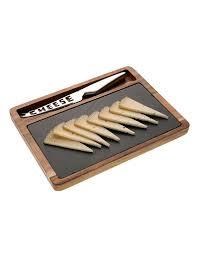 planche ardoise cuisine planche à découper en bois avec ardoise et couteau casa square