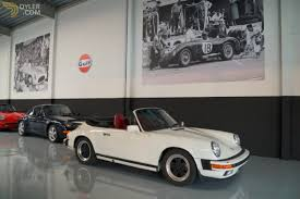 porsche 911 convertible white classic 1988 porsche 911 carrera g50 cabriolet roadster for sale