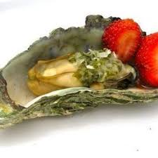 mignonette cuisine oysters with cucumber mignonette sauce with food