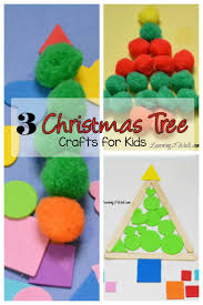 3 easy christmas tree crafts for kids pom poms tree crafts and