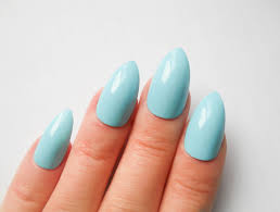 baby blue stiletto nails fake nails acrylic nails false