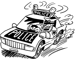 police officer coloring police car car coloring pages