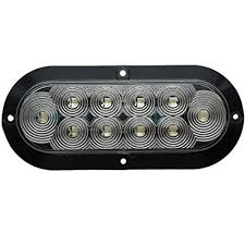 led lights for trucks and trailers jammy inc 6 oval clear lens white led surface mount back up truck