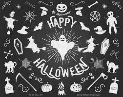 chalkboard halloween clipart clip art