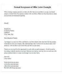 company offer letter template formal acceptance letter formal offer letter template 8 free word