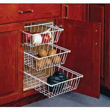 kitchen cabinets baskets 3 tier pull out vegetable baskets for kitchen base cabinet by knape