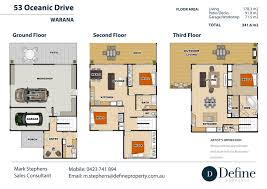 apartments triple story house plans three story house plans
