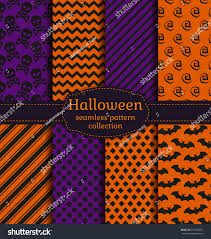 halloween seamless background set halloween backgrounds collection seamless patterns stock
