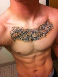 forget your past you will no future quote on chest