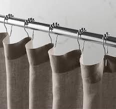 White Linen Shower Curtain 5 Favorites Summery Shower Curtains Remodelista