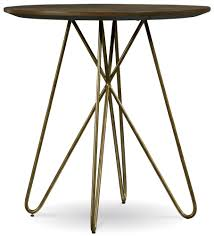 36 Round Dining Table Silver Lake High Dining Table With Hairpin Leg Pedestal By A R T