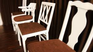 dining room chairs upholstered how to re cover a dining room chair hgtv