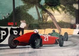 ferrari painting john surtees ferrari at the monaco grand prix 1963 painting by