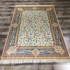 Silk Oriental Rugs Hand Knotted Persian Rugs 4 U0027x6 U0027 Silk Persian Rugs Blue Hand