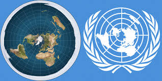 un map un flag and flat earth map