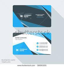 Flat Design Business Card Creative Clean Business Card Template Flat Stock Vector 380063281