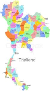 map of thailand thailand map stock vector colourbox