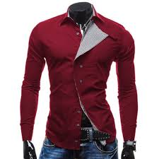 tshirts design wholesale stylish shirt collar oblique checked placket design