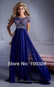aliexpress com buy empire waist crystal royal blue chiffon floor