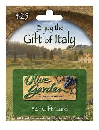 Olive Garden Family Of Restaurants Amazon Com Olive Garden Holiday 25 Gift Card Gift Cards