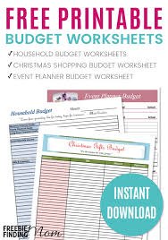 how to create a realistic household budget money matters free printable budget worksheets