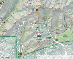 griffith park map dan s hiking pages griffith observatory