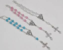 diy rosary mini rosaries favors