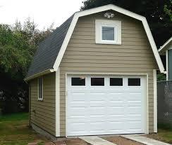 portland garage builders gambrel front closeup
