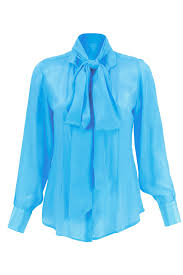 baby blue blouse luxury blouses with big bows at neck bow tie blouses