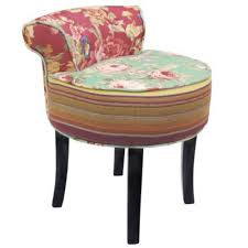 Shabby Chic Stools by Buy Shabby Chic Stool Low Back Chair With Wood Legs Multi
