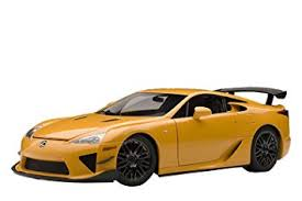 orange lexus lfa amazon com autoart 1 18 lexus lfa nurburgring package orange