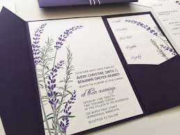 lavender wedding invitations vo handmade