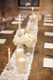 Centerpieces With Candles For Wedding Receptions by Best 25 Long Table Centerpieces Ideas On Pinterest Wedding