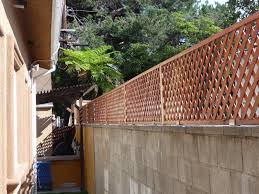 Privacy Trellis Ideas by Thb Construction Privacy Trellis Added To Cinder Block Wall