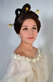 makeup design school apollo knot 1830 s wig style by madeline lecuyer for graduate